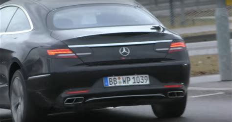 Mercedes E Class Facelift 2019 by 2019 Mercedes S Class Coupe Facelift Shows Up In