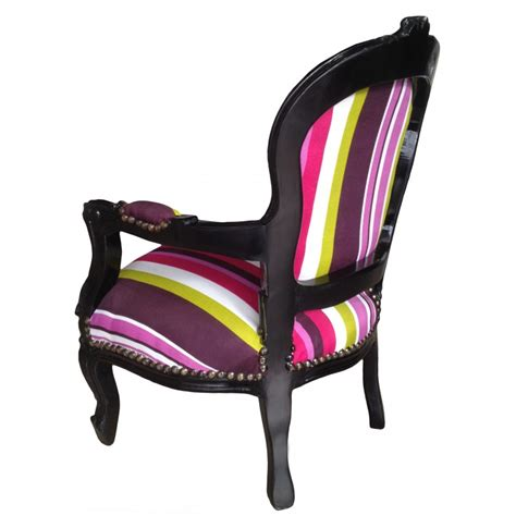 child armchairs baroque armchair for child fabric multicolor striped with