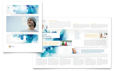 behavioral counseling brochure template word publisher
