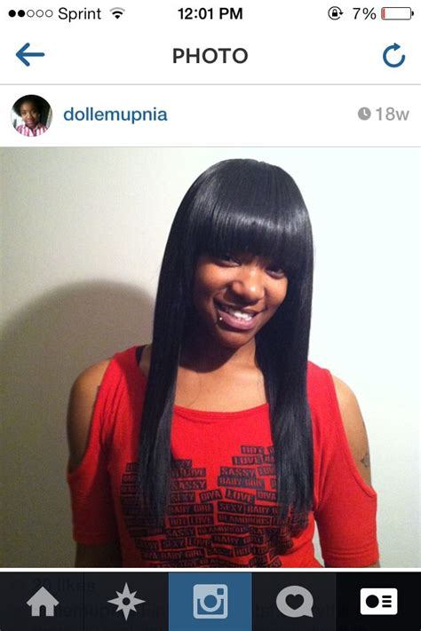 sew in with chinese bang hairstyles full sew in with chinese bangs