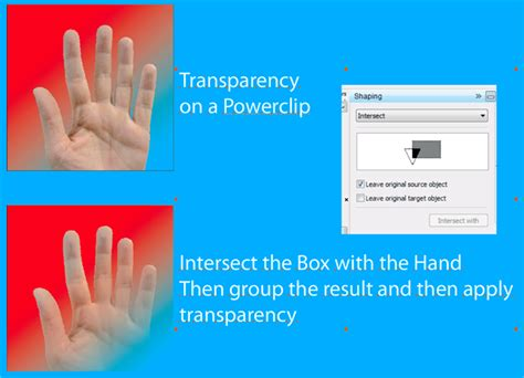 corel draw x6 transparency tool interactive transparency tool with powerclip coreldraw