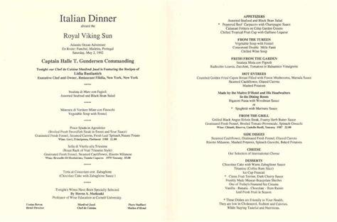 italian dinner menu grandeur of the seas gallery