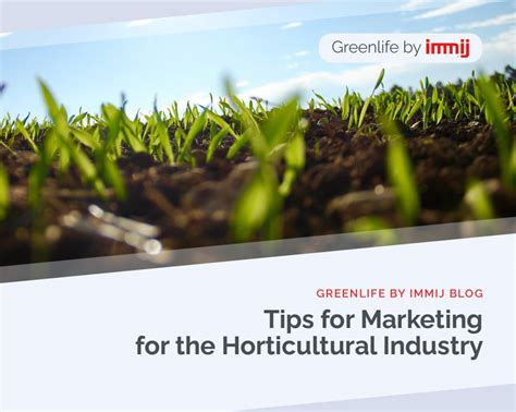 tips  marketing   horticultural industry