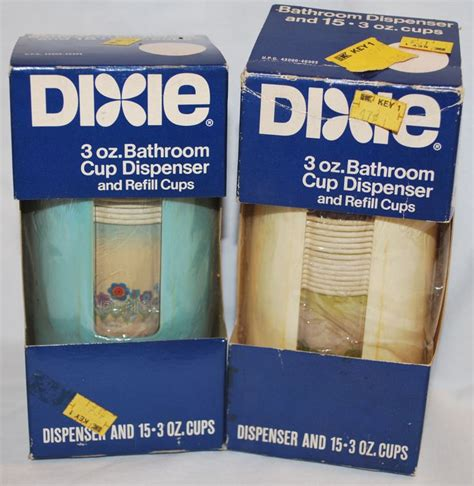 dixie cup wall dispenser bathroom 2 vintage retro nos dixie cup bathroom wall mount cup
