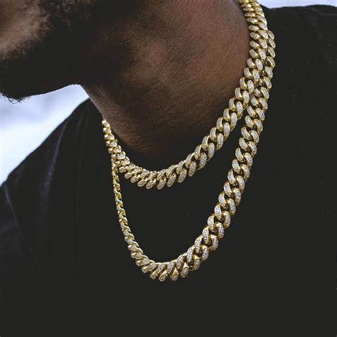 Chain Choker cuban link choker 10mm in yellow gold the gld shop