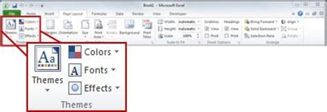 adding themes to excel apply customize and save a document theme in word or