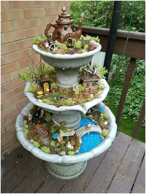 15 Magical Recycled Fairy Garden Ideas Recycled Gardening Ideas