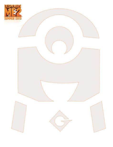 minion template 6 best images of minion pumpkin stencil printable minion