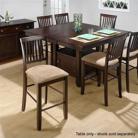 counter height dining table sets with butterfly leaf jofran counter height dining table with butterfly leaf in