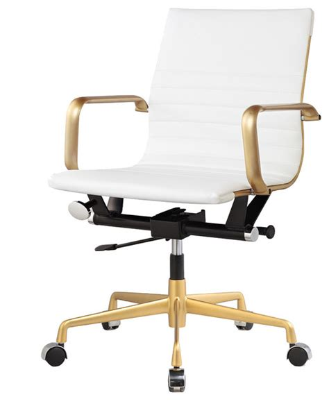houzz office chairs george vegan office chair white and gold view