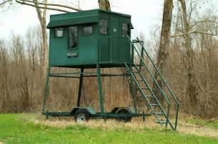 portable deer blinds portable steel trailer deer blind