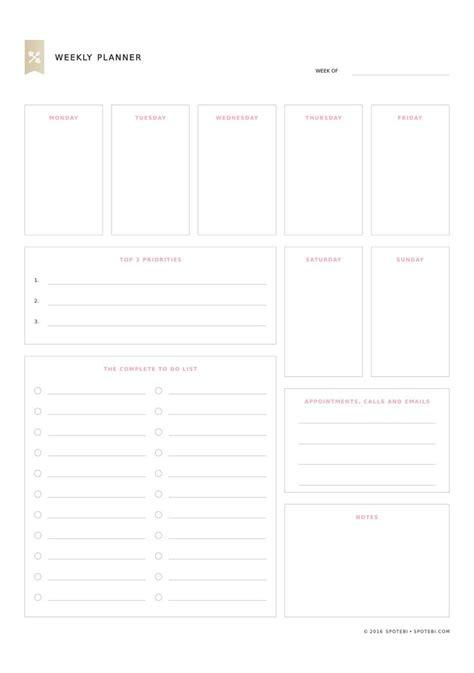 Weekly Priorities Template 25 best ideas about weekly planner printable on