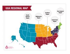 regional map browse uua member congregations by state region district