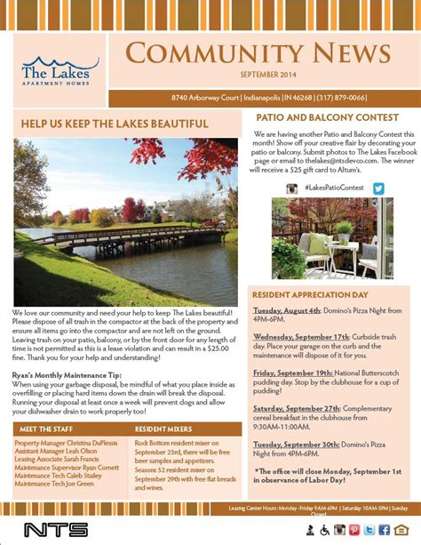 Apartment Community Newsletter Latest Bestapartment 2018 Property Management Newsletter Templates