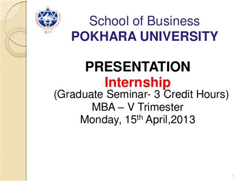 Mba Summer Internship Presentation Ppt by Mba Internship Ppt