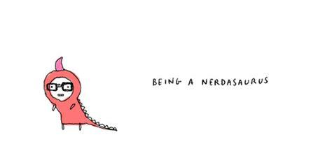 tumblr themes nerd cartoon cute dinosaur drawing nerd image 100544 on