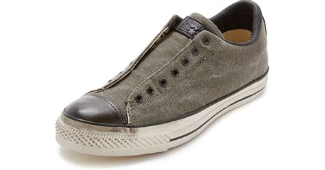 Jual Converse X Varvatos converse chuck all vintage slip on sneakers in black for lyst