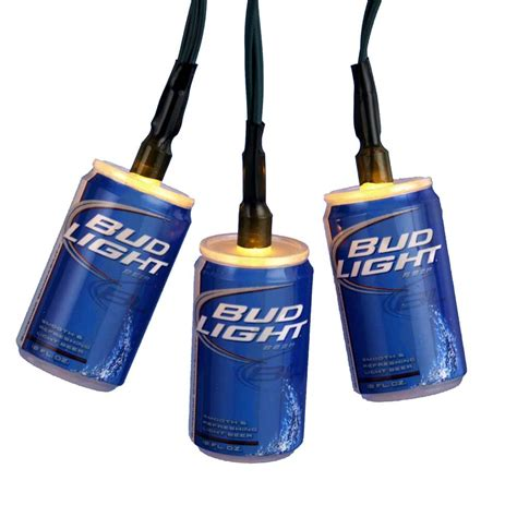 10 battery operated bud light 174 beer can christmas lights