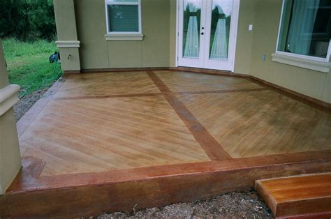 How To Make Concrete Floors Look Like Wood by Concrete That Looks Like Wood
