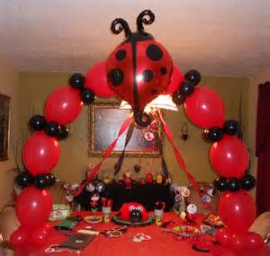 Sports Themed Cake Decorations - lady bug party theme lady bug balloons lady bug balloon arch