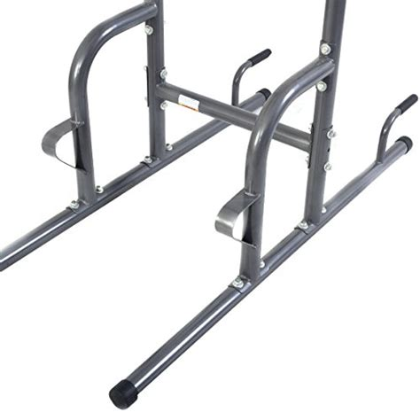 goplus chin up tower rack pull up weight stand bar leg