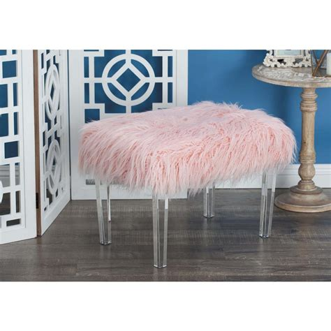 13 5 in suede mid century foot stool hb4652 the home