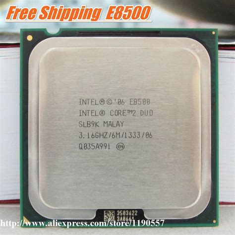 Intel Core2 Duo Processor E8400 30ghz Socket Lga 775 processeur 2 duo e8500