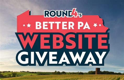 Website Giveaway - round4 s better pa website giveaway winner round4 llc