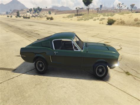 mustang fastback 68 1968 ford mustang fastback add on replace gta5 mods