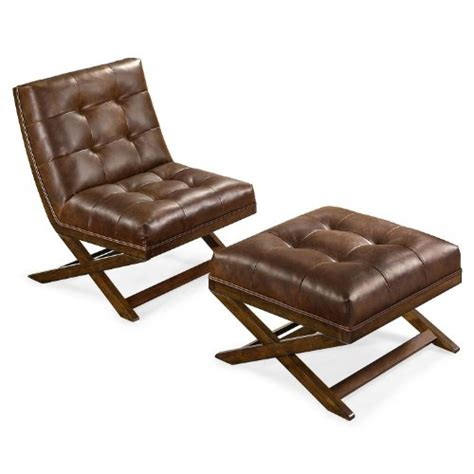 bonded leather chair and ottoman marston chair and ottoman durable bonded leather tufted
