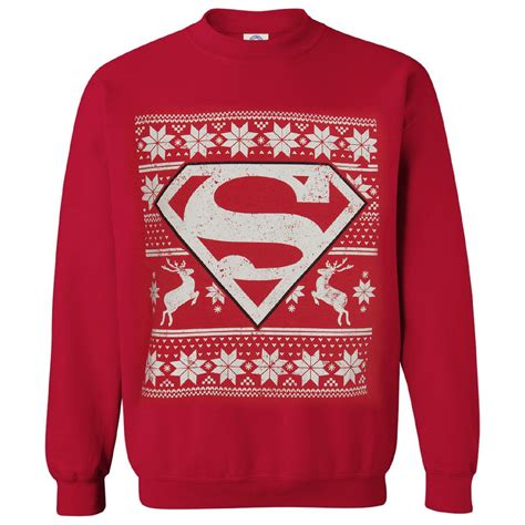 Hoodie Huk Redmerch dc comics s superman fairisle sweatshirt merchandise zavvi
