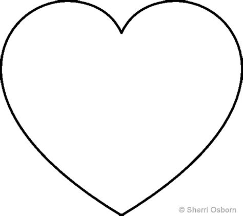 Heart Pattern Free Printable | heart cut out template