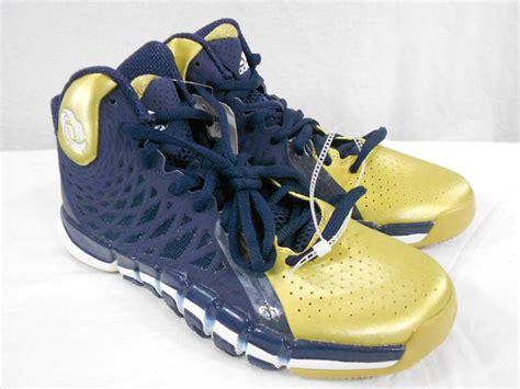 notre dame basketball shoes adidas d smu derrick mens basketball navy blue gold