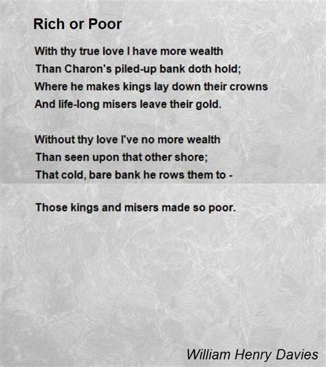 rich poor book report essay rich or poor poem by william henry davies poem