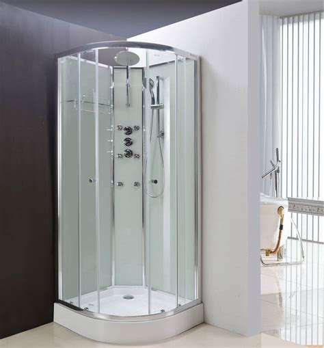 shower cabin lisna waters olympia white 900 x 900mm hydro massage