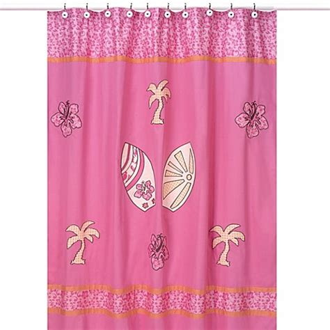 pink and orange bathroom sets sweet jojo designs surf shower curtain in pink and orange bed bath beyond