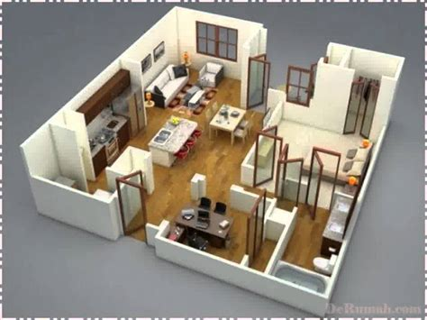 layout ruangan rumah desain tata ruang rumah minimalis type 36 youtube
