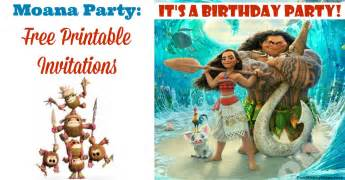 moana invitations free printables for a princess