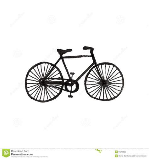 doodle motorcycle bycicle doodle bike on the white background stock vector