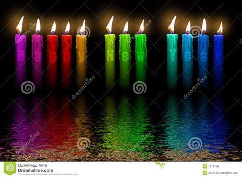 colors for new years color candles happy new year flooding in water stock