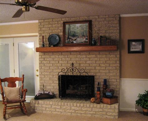 fireplace painted with brick anew home livingroom