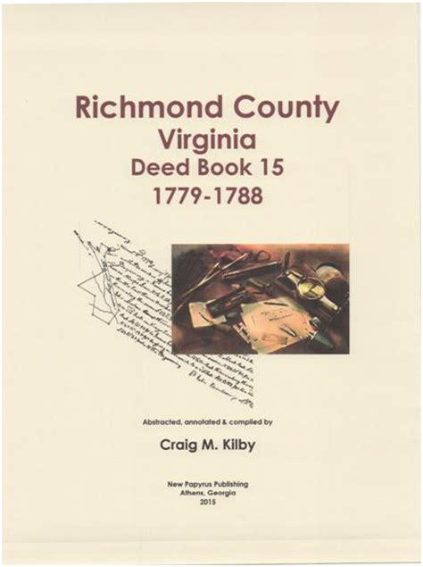 Richmond County Records Richmond County Virginia Records