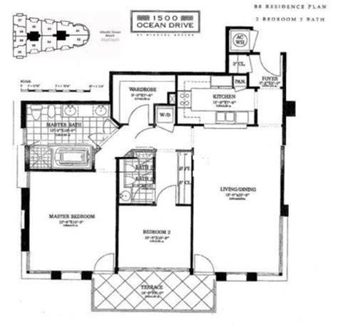 miami condo floor plans 1500 ocean drive miami beach condos for sale rent floor plans
