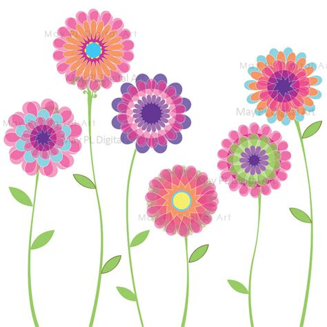 free flower clipart floral clipart flower pencil and in color floral