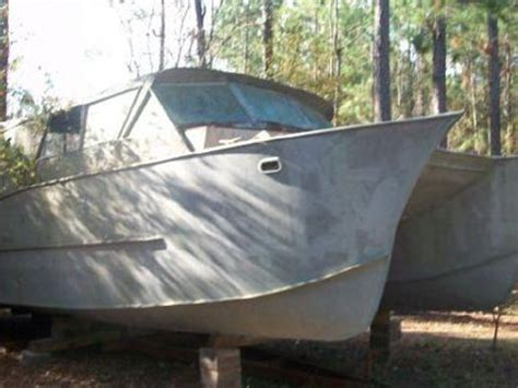 catamaran project for sale 39 6 quot welded aluminum catamaran hull project boat for sale