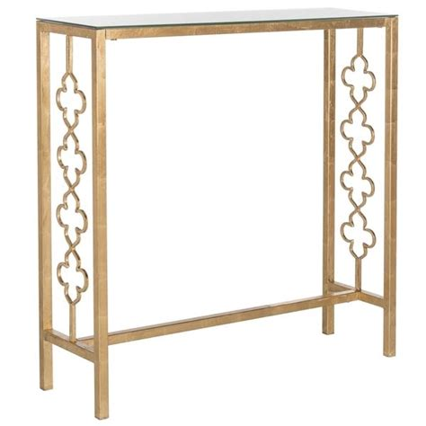 Quatrefoil Console Table Quatrefoil Console Table Wrought Iron Gilded Gold Quatrefoil Sofa Wall Console Table Ebay