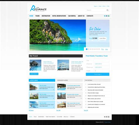 template joomla psd travel guide joomla template 27587