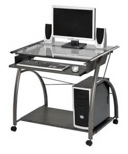 Small Computer Desk With Wheels Small Computer Desk For Small Space
