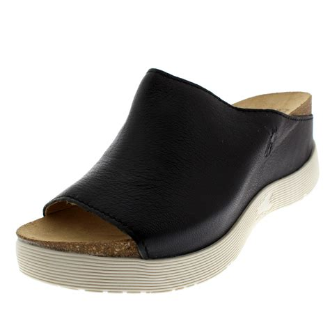 fly wigg mousse casual peep toe wedges