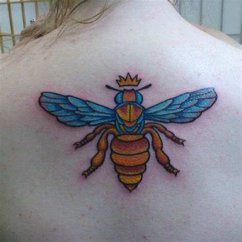 queen tattoo on back bee tattoos and designs page 132